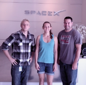 Jon, Kristen, & Bob at SpaceX